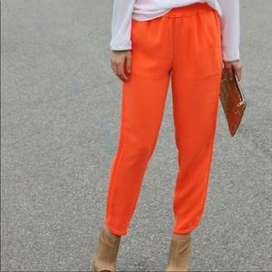 J crew bright orange Reese pants